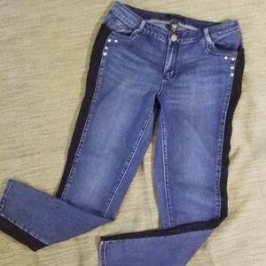 Ashley Stewart Jeans Lace Stripe on side😍sz 14